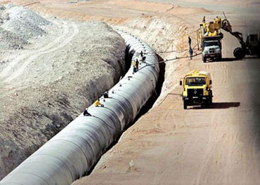 Libyan water supply pipeline