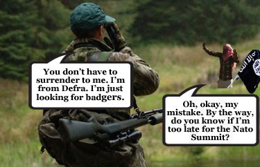 Badger cull & Nato summit terrorist threat