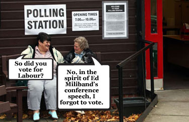 Ed Miliband forgets key section of conference speech