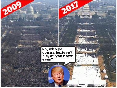 Trump accuses media of downplaying the turnout at his inauguration