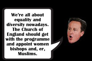 'Get with the programme' on women bishops, David Cameron tells Church of England