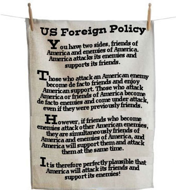 US Foreign Policy tea towel