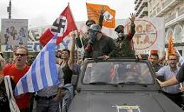 Protesters take to the streets of Athens during Angela Merkel's visit