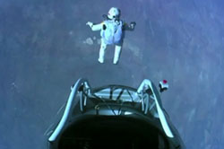 Felix Baumgartner's record-breaking jump