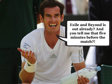 Andy Murray appears distracted as he surrenders Wimbledon title
