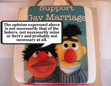 Gay marriage 'Bert and Ernie' cake bakery found guilty of discrimination