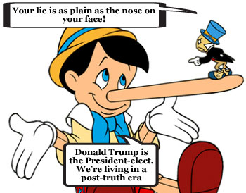 Usage of term 'post-truth' attributed to Trump's presidential nomination