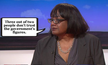 Diane Abbott struggles with the sums on Labour's policing pledge