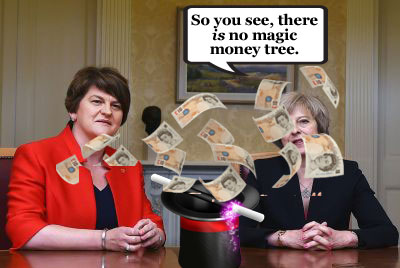 PM accused of bribing DUP with £1bn deal despite claiming 'there is no magic money tree'