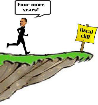 Obama wins four more years, but 'fiscal cliff' looms